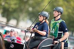 Alison Stroud, (USA), Anesco 4, Mozes, Olando, Ulco, Zenno - Driving Marathon - Alltech FEI World Equestrian Games™ 2014 - Normandy, France.<br /> © Hippo Foto Team - Jon Stroud<br /> 06/09/2014