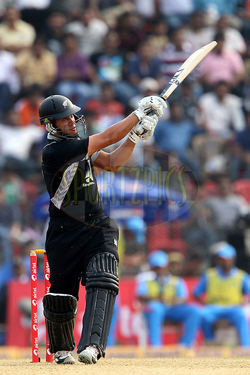 Ross Taylor of New Zealand   during the 1st ODI (One Day International ) between India and New Zealand held at the Nehru Cricket Stadium in Guwahati, Assam, India on the 28th  November 2010..Photo by Ron Gaunt/BCCI/SPORTZPICS