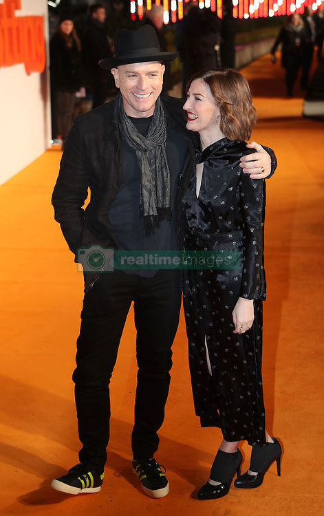 Ewan McGregor and Kelly Macdonald arriving at the world premiere of Trainspotting 2 at Cineworld in Edinburgh.