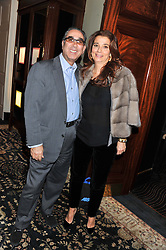 DAVID & MARRION KHALILI at an evening of Cabaret by Nicky Haslam held in the Beaufort Bar, The Ritz, London on 11th December 2011.