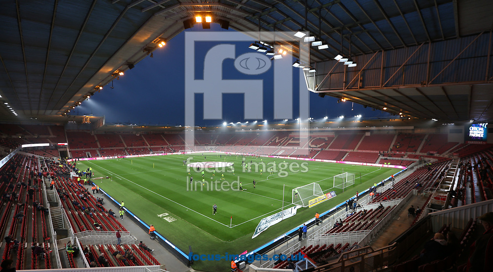 A general view of the Riverside Stadium prior to the Sky Bet Championship match at the Riverside Stadium, Middlesbrough<br /> Picture by Simon Moore/Focus Images Ltd 07807 671782<br /> 26/09/2017