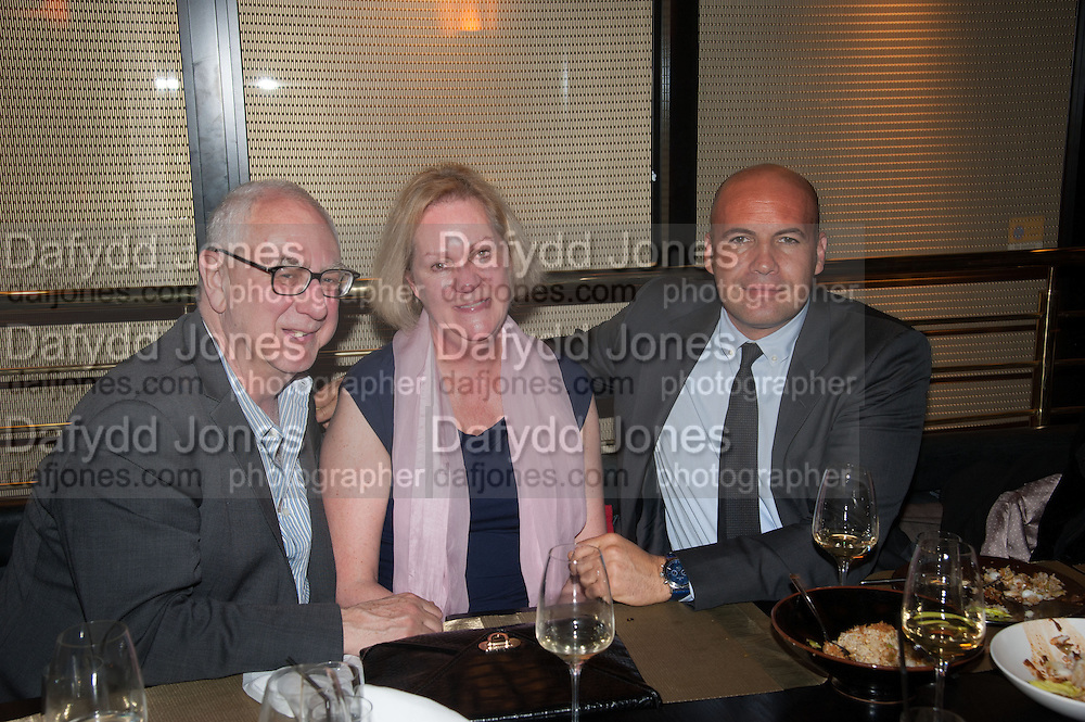 DON BOYD; HILARY BOYD; BILLY ZANE, Liberatum Cultural Honour  for John Hurt, CBE in association with artist Svetlana K-Lié.  Spice Market, W London - Leicester Square