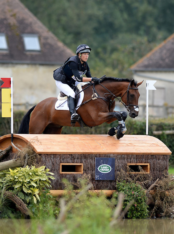 New Zealand's Lucy Jackson rides Willy Do in the Cross Country Phase of Eventing, Le Pin National Stud, Le Haras national du Pin, Normandy, France, Saturday, August, 30, 2014. Credit:  SNPA /Sarah Alderman