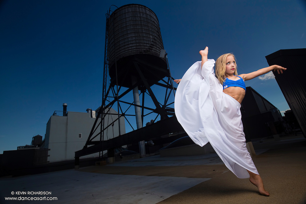 New York City Rooftop Dance As Art Photography Project- featuring dancer, Lilliana Ketchman