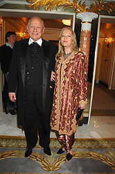 Actor STEVEN BERKOFF and CLARA FISCHER at the Chain of Hope Ball held at The Dorchester, Park Lane, London on 4th February 2008.<br />