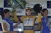 2002 Tour of Spain - SPAIN. [Vuelta Ciclista a España], Stage 7.  Jaen to Malaga .Finish Malaga  - Malaga sprint finishPresentation, Oscar Sevilla [ESP] - Team Kelme - Costa Blanca ,  © Photo Peter /Intersport Images.