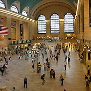 NEW YORK, SEPTEMBER 03: commuters and tourists in the grand central station in September 03, 2013 in New York. It is the busiest and largest train station in the world by number of platforms: 44, with 67 tracks