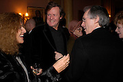 Nicole Fahri, David Hare and Ian McEwan Book party for 'Saturday' by Ian McEwan, Polish Club, South Kensington.  4 February 2005. ONE TIME USE ONLY - DO NOT ARCHIVE  © Copyright Photograph by Dafydd Jones 66 Stockwell Park Rd. London SW9 0DA Tel 020 7733 0108 www.dafjones.com
