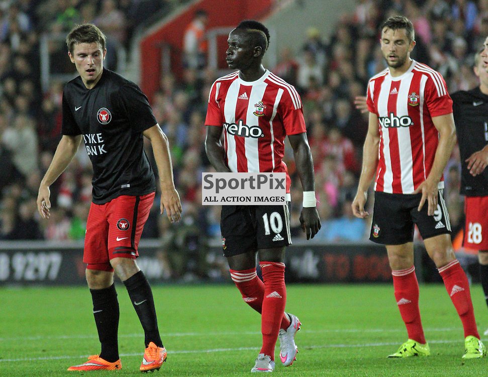 Sadio Mane and Jay Rodriguez During Southampton FC vs Fc Midtjylland on Thursday the 20th August 2015.