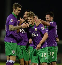 Bristol City's George Saville celebrates with team. - Photo mandatory by-line: Alex James/JMP - Mobile: 07966 386802 - 10/03/2015 - SPORT - Football - Yeovil - Huish Park - Yeovil Town v Bristol City - Sky Bet League One