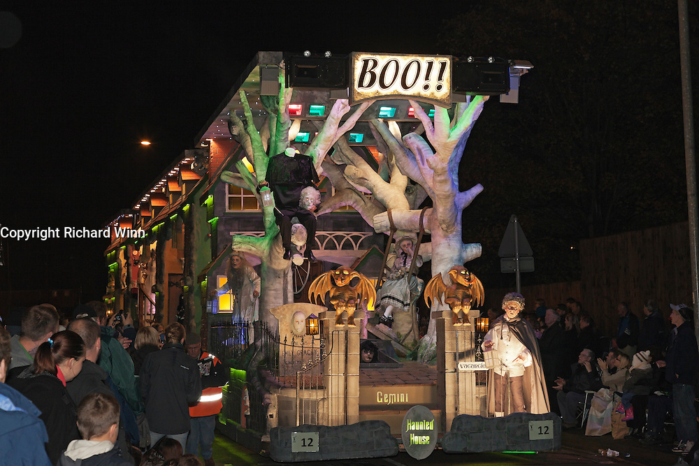 Boo! Haunted House was the entry by Gemini Carnival Club in the 2011 Bridgwater Guy Fawkes Carnival. Bridgwater Carnival is an annual event to raise money for local charities. It is widely reputed to be the largest illuminated carnival in the world.