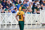 Jake Ball of Nottinghamshire Nottinghamshire Outlaws waits for a delivery to be sent down during the Vitality T20 Blast North Group match between Nottinghamshire County Cricket Club and Worcestershire County Cricket Club at Trent Bridge, West Bridgford, United Kingdon on 18 July 2019.