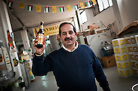 Nadim Khoury, Founder of Taybeh Beer, the only brewery in the West Bank. Taybeh, Palestine. 2012.