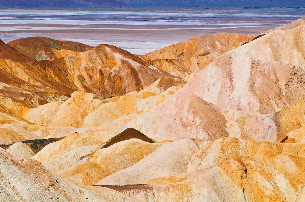 Eroded hills at Zabriskie Point, Death Valley National Park. California USA