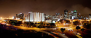 Cape Town city skyline at night. Stitched panoramic image. Greg Beadle shoots panoramic images