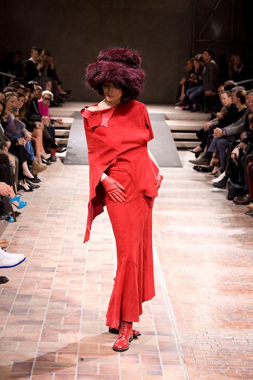 2013, Berlin. Fashion show of 40 years of Yohji Yamamoto, japan designer.