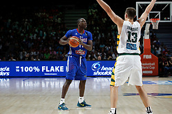 13.09.2014, City Arena, Madrid, ESP, FIBA WM, Frankreich und Litauen, Entscheidungsspiel zwischen Platz 3 und 4, im Bild France´s Pietrus (L) and Lithuania´s Jankunas // during FIBA Basketball World Cup Spain 2014 playoff match place 3 and 4 between France and Lithuania at the City Arena in Madrid, Spain on 2014/09/13. EXPA Pictures © 2014, PhotoCredit: EXPA/ Alterphotos/ Victor Blanco<br /> <br /> *****ATTENTION - OUT of ESP, SUI*****