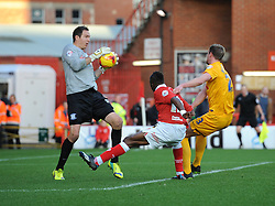 Bristol City's Kieran Agard takes a shot at goal. - Photo mandatory by-line: Dougie Allward/JMP - Mobile: 07966 386802 - 22/11/2014 - Sport - Football - Bristol - Ashton Gate - Bristol City v Preston North End - Sky Bet League One