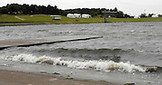 Nottingham, GREAT BRITAIN,  Waves breaking at end of the course, at the 2008 National Schools Regatta, ,  at Holme Pierrepont, Nottingham, ENGLAND,  on Sunday 25/05/2008  [Mandatory Credit:  Peter Spurrier/Intersport Images]