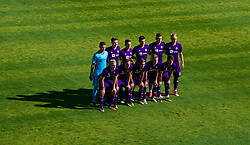 LENDAVA, SLOVENIA - Tuesday, October 17, 2017: NK Maribor players line-up for a team group photograph before the UEFA Youth League Group E match between NK Maribor and Liverpool at Športni Park. (Pic by David Rawcliffe/Propaganda)