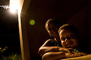 Santos Dumont_MG, Brasil...Familia beneficiada pela eletrificacao rural...A family benefited by the rural electrification...Foto: LEO DRUMOND / NITRO.