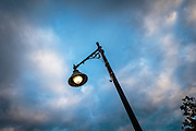 Street Lamp at dusk, Durham, New Hampshire, USA