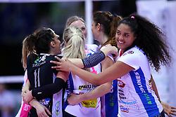 04-03-2017 ITA: Semifinal Coppa Italia Imoco Volley Conegliano - Igor Gorgonzola Novara, Firenze<br /> Laura Dijkema #14, Celeste Plak #4<br /> <br /> ***NETHERLANDS ONLY***