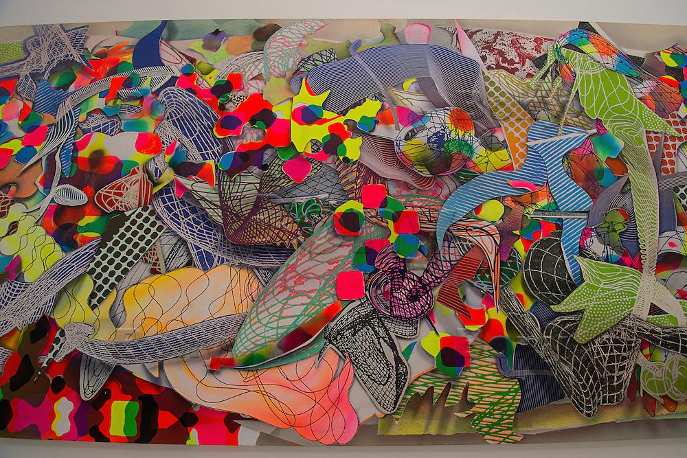 Frank Stella, Fladrine.<br /> Detail