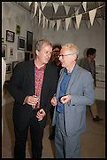 TONY ELLIOT; JAMES LINGWOOD, Matt's Gallery 35th birthday fundraising supper.  42-44 Copperfield Road, London E3 4RR. 12 June 2014.