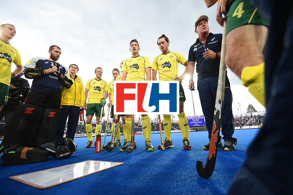 LONDON, ENGLAND - JUNE 11: XXX during day two of the FIH Men's Hero Hockey Champions Trophy 2016 match between Australia and Korea at Queen Elizabeth Olympic Park on June 11, 2016 in London, England. (Photo by Tom Dulat/Getty Images)