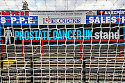 Bootham Crescent renames 'Prostate Cancer UK' stand before the Capital One Cup match between York City and Bradford City at Bootham Crescent, York, England on 11 August 2015. Photo by Simon Davies.