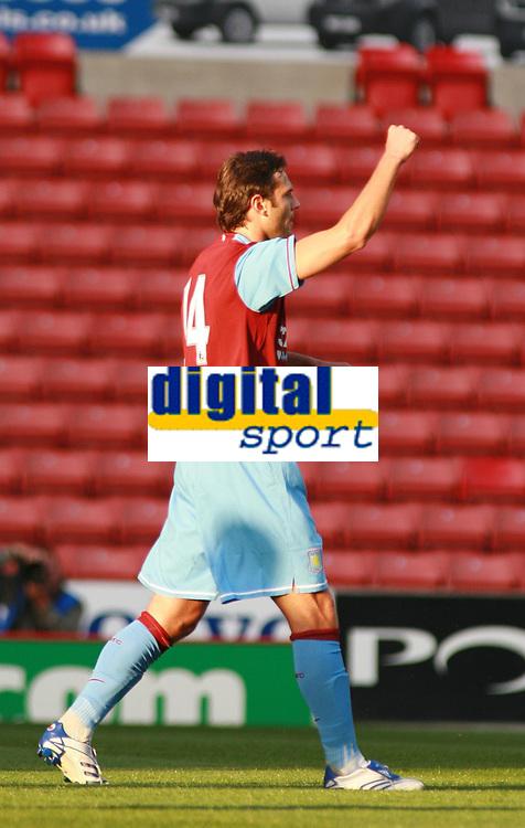 Photo: Mark Stephenson.<br /> Stoke City v Aston Villa. Pre Season Friendly. 01/08/2007.<br /> Villa's Patrick Berger celebrates his goal