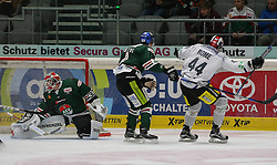 05.01.2016, Curt Fenzel Stadion, Augsburg, GER, DEL, Augsburger Panther vs Schwenninger Wild Wings, 34. Runde, im Bild Ashton Rome (# 44, Schwenninger Wild Wings) re. erzielte die 1:0 Fuehrung. Links Torhueter Ben Meisner (# 30, Augsburger Panther) kann dem Puck nur hinterher sehen // during the German DEL Icehockey League 34th round match between Augsburger Panther and Schwenninger Wild Wings at the Curt Fenzel Stadion in Augsburg, Germany on 2016/01/05. EXPA Pictures © 2016, PhotoCredit: EXPA/ Eibner-Pressefoto/ Fastl<br /> <br /> *****ATTENTION - OUT of GER*****