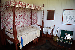 Bedroom inside of the Great Hall, Grand Portage National Monument, Grand Portage, Minnesota, United States of America