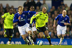 LIVERPOOL, ENGLAND - Thursday, April 17, 2008: Everton's Phil Neville and Chelsea's Nicolas Anelka during the Premiership match at Goodison Park. (Photo by David Rawcliffe/Propaganda)