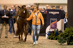 Witte-Vrees Madeleine, NED, Cennin<br /> Training session<br /> FEI World Cup Dressage Final, Omaha 2017 <br /> © Hippo Foto - Jon Stroud<br /> 29/03/2017