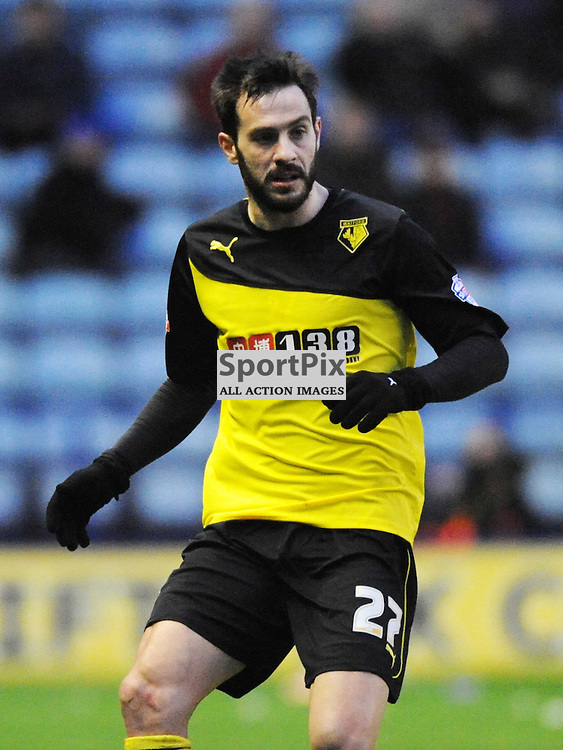 Marco Cassetti Watford, Leicester City v Watford, Sky Bet Championship, Saturday 8th Febuary 2014