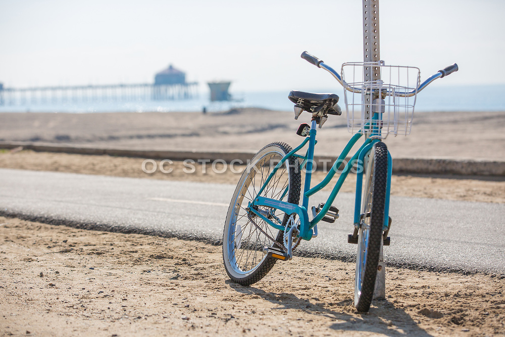 Bike Resting Along the Huntington Beach Bike Path
