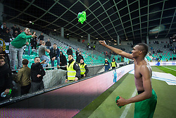 Chubuike Blessing Eleke of NK Olimpija Ljubljana after the football match between NK Olimpija Ljubljana and NK Maribor in Semifinal of Slovenian Football Cup 2016/17, on April 5, 2017 in SRC Stozice, Ljubljana, Slovenia.  Photo by Ziga Zupan / Sportida