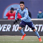 NEW YORK, NEW YORK - March 18:  Alexander Callens #6 of New York City FC in action during the New York City FC Vs Montreal Impact regular season MLS game at Yankee Stadium on March 18, 2017 in New York City. (Photo by Tim Clayton/Corbis via Getty Images)