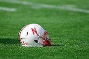 A Nebraska Cornhuskers helmet sits on the field during the Georgia Bulldogs 45-31 win over the Nebraska Cornhuskers in the Capital One Bowl at the Florida Citrus Bowl on Jan 1, 2013 in Orlando, Florida. ..©2012 Scott A. Miller..