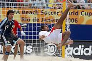 Footbal-FIFA Beach Soccer World Cup 2006 -  Oficial Games BHR x ARG - Ebrahim A. and Minici - 04/11/2006.<br />Mandatory Credit: FIFA/Ricardo Ayres