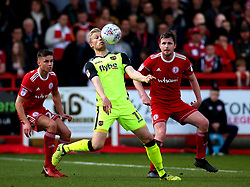 Jayden Stockley of Exeter City controls the ball - Mandatory by-line: Robbie Stephenson/JMP - 14/04/2018 - FOOTBALL - Wham Stadium - Accrington, England - Accrington Stanley v Exeter City - Sky Bet League Two