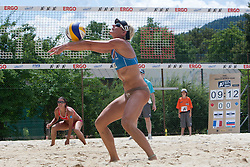 Andreja Vodeb of Slovenia at A1 Beach Volleyball Grand Slam presented by ERGO tournament of Swatch FIVB World Tour 2012, on July 17, 2012 in Klagenfurt, Austria. (Photo by Matic Klansek Velej / Sportida)