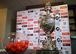 CARDIFF, WALES - Monday, November 6, 2017: The Welsh Cup trophy pictured before the draw for the 3rd Round of the competition at the Vale Resort. (Pic by David Rawcliffe/Propaganda)