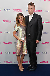SAM SMITH and SARAH HYLAND at the Glamour Women of The Year Awards in Association with Next held in Berkeley Square Gardens, Berkeley Square, London on 3rd June 2014.