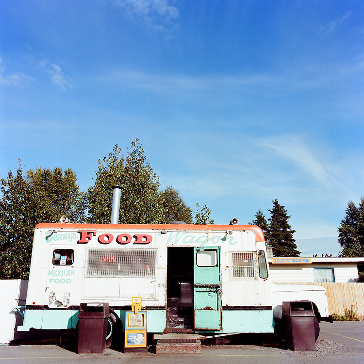 ANCHORAGE, ALASKA - 2012: Benny's Food Wagon.