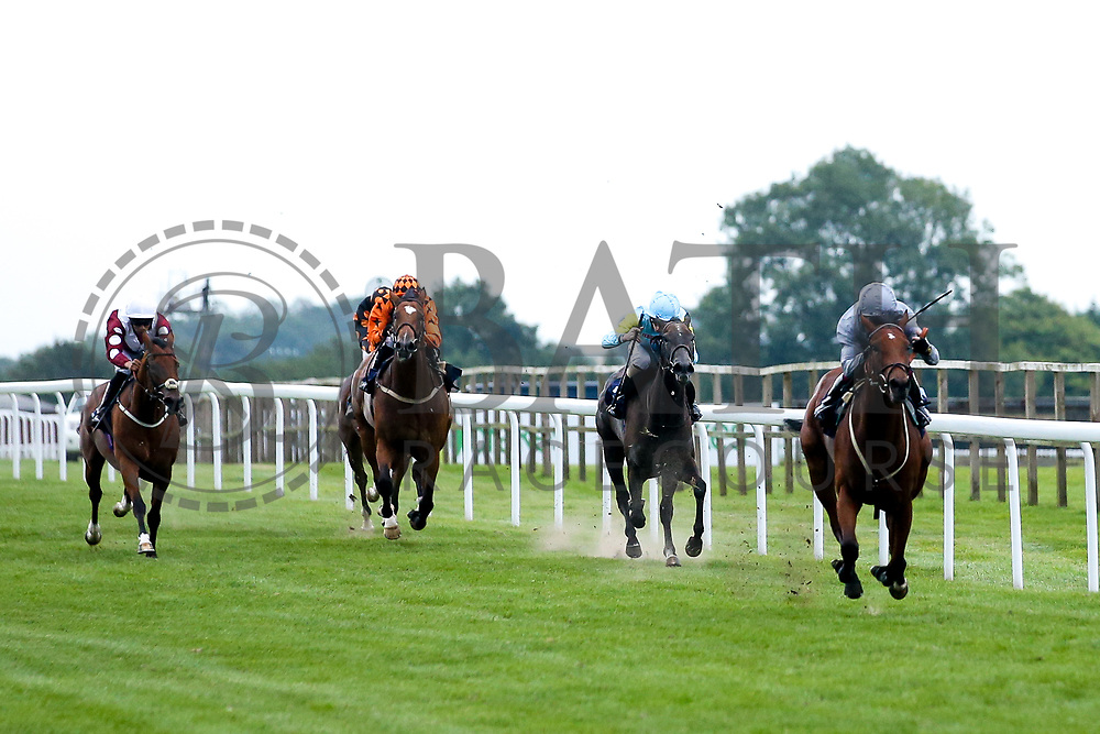 Whisper Aloud ridden by Oisin Murphy and Trained by Archie Watson, Welsh Warrior ridden by John Fahy trained by Nikki Evans, Bithiah ridden by Sean Levey trained by Ismail Mohammed, Del's Edge ridden by William Cox trained by Christopher Mason, Zaula ridden by David Egan trained by Mick Channon in the Novice Stakes - Mandatory by-line: Robbie Stephenson/JMP - 27/08/2019 - PR - Bath Racecourse - Bath, England - Race Meeting at Bath Racecourse