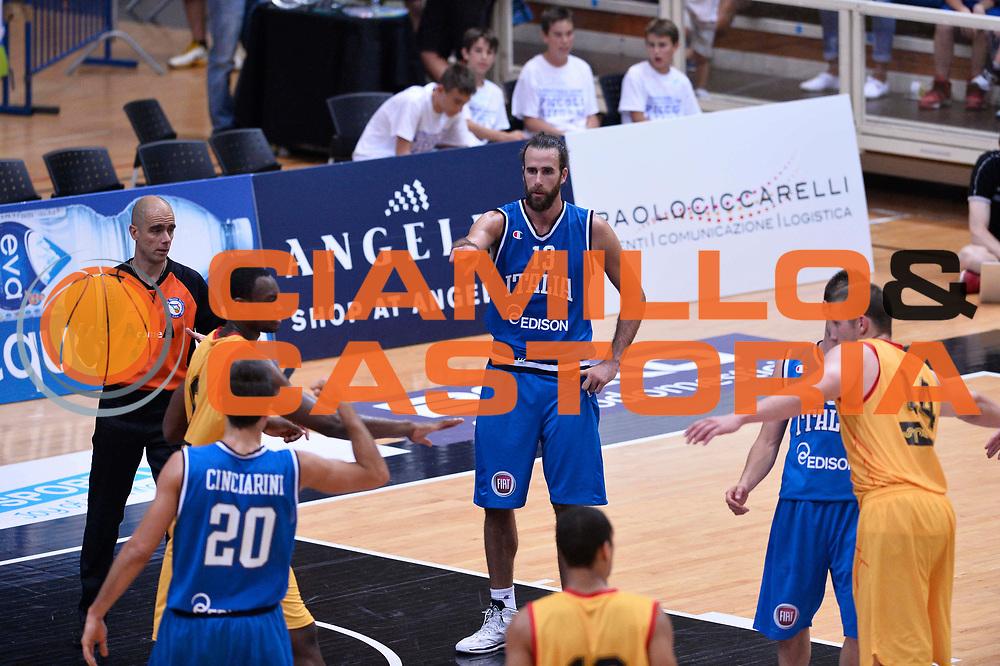 DESCRIZIONE : Trento Nazionale Italia Uomini Trentino Basket Cup Italia Belgio Italy Belgium<br /> GIOCATORE : Luigi Datome Andrea Cinciarini<br /> CATEGORIA : curiosit&agrave;<br /> SQUADRA : Italia Italy<br /> EVENTO : Trentino Basket Cup<br /> GARA : Italia Belgio Italy Belgium<br /> DATA : 12/07/2014<br /> SPORT : Pallacanestro<br /> AUTORE : Agenzia Ciamillo-Castoria/GiulioCiamillo<br /> Galleria : FIP Nazionali 2014<br /> Fotonotizia : Trento Nazionale Italia Uomini Trentino Basket Cup Italia Belgio Italy Belgium