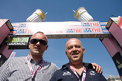 Bogdan Fink and Janko Hrovat at finish line of 2nd stage of 92nd Giro d'Italia in Trieste, on May 10, 2009, in Trieste, Italia.  (Photo by Vid Ponikvar / Sportida)